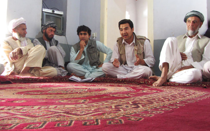Monthly Meeting of Local Monitors, Balkh May 15 2012 | Photo by Huma Gupta