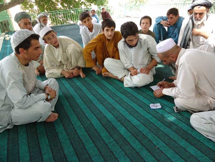 Community Members Discussing and Electing Local Monitors, Balkh 2010 | Photo Courtesy of Ahmadi Mukhtar